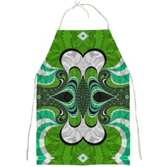 Fractal Art Green Pattern Design Full Print Aprons