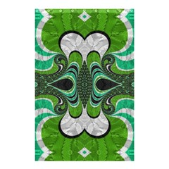 Fractal Art Green Pattern Design Shower Curtain 48  X 72  (small)
