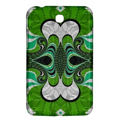 Fractal Art Green Pattern Design Samsung Galaxy Tab 3 (7 ) P3200 Hardshell Case  by Nexatart