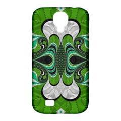 Fractal Art Green Pattern Design Samsung Galaxy S4 Classic Hardshell Case (pc+silicone)