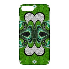 Fractal Art Green Pattern Design Apple Iphone 7 Plus Hardshell Case by Nexatart