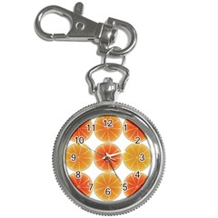 Orange Discs Orange Slices Fruit Key Chain Watches by Nexatart