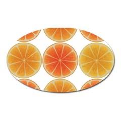 Orange Discs Orange Slices Fruit Oval Magnet by Nexatart