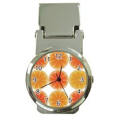 Orange Discs Orange Slices Fruit Money Clip Watches by Nexatart