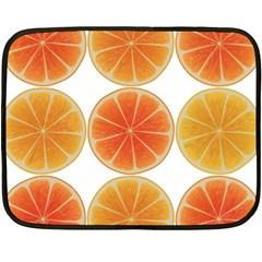 Orange Discs Orange Slices Fruit Fleece Blanket (mini)