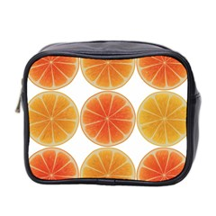 Orange Discs Orange Slices Fruit Mini Toiletries Bag 2 Side by Nexatart