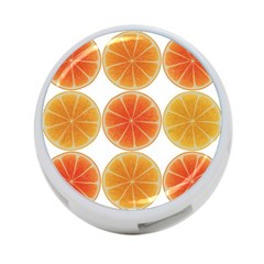 Orange Discs Orange Slices Fruit 4 Port Usb Hub (two Sides)  by Nexatart