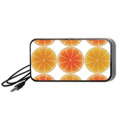 Orange Discs Orange Slices Fruit Portable Speaker (black)