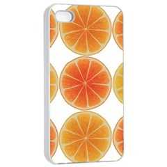 Orange Discs Orange Slices Fruit Apple Iphone 4/4s Seamless Case (white) by Nexatart