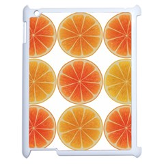 Orange Discs Orange Slices Fruit Apple Ipad 2 Case (white) by Nexatart