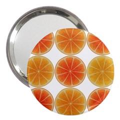 Orange Discs Orange Slices Fruit 3  Handbag Mirrors