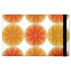 Orange Discs Orange Slices Fruit Apple Ipad 3/4 Flip Case