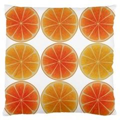Orange Discs Orange Slices Fruit Standard Flano Cushion Case (two Sides) by Nexatart