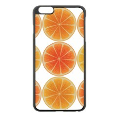 Orange Discs Orange Slices Fruit Apple Iphone 6 Plus/6s Plus Black Enamel Case by Nexatart