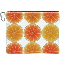 Orange Discs Orange Slices Fruit Canvas Cosmetic Bag (XXXL) by Nexatart