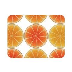Orange Discs Orange Slices Fruit Double Sided Flano Blanket (mini)  by Nexatart