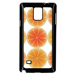 Orange Discs Orange Slices Fruit Samsung Galaxy Note 4 Case (black)