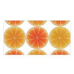 Orange Discs Orange Slices Fruit Satin Shawl by Nexatart