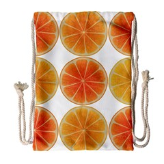 Orange Discs Orange Slices Fruit Drawstring Bag (large) by Nexatart