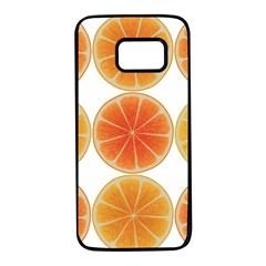 Orange Discs Orange Slices Fruit Samsung Galaxy S7 Black Seamless Case by Nexatart
