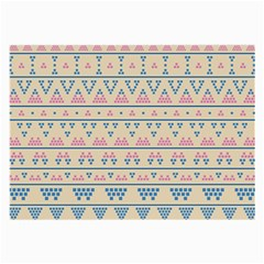 Blue And Pink Tribal Pattern Large Glasses Cloth (2 Side) by berwies