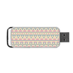 Blue And Pink Tribal Pattern Portable Usb Flash (one Side) by berwies