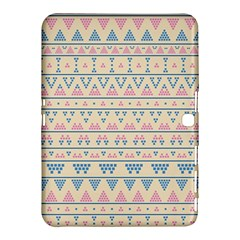 Blue And Pink Tribal Pattern Samsung Galaxy Tab 4 (10 1 ) Hardshell Case  by berwies