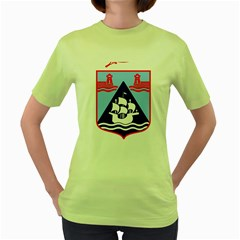 Haifa Coat Of Arms  Women s Green T Shirt by abbeyz71