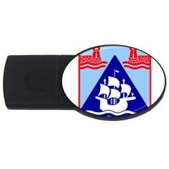Haifa Coat Of Arms  Usb Flash Drive Oval (4 Gb) by abbeyz71
