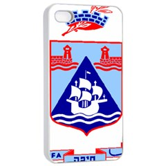 Haifa Coat Of Arms  Apple Iphone 4/4s Seamless Case (white) by abbeyz71