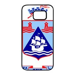 Haifa Coat Of Arms  Samsung Galaxy S7 Edge Black Seamless Case by abbeyz71