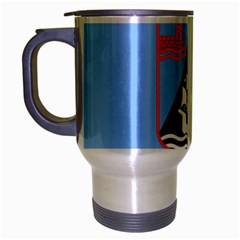 Flag Of Haifa Travel Mug (silver Gray) by abbeyz71