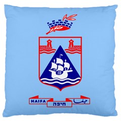 Flag Of Haifa Standard Flano Cushion Case (one Side) by abbeyz71