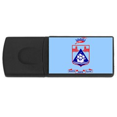 Flag Of Haifa Usb Flash Drive Rectangular (4 Gb) by abbeyz71