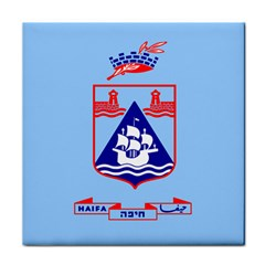 Flag Of Haifa Face Towel by abbeyz71