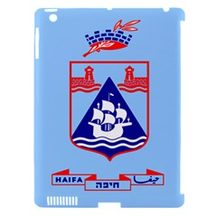 Flag Of Haifa Apple Ipad 3/4 Hardshell Case (compatible With Smart Cover) by abbeyz71
