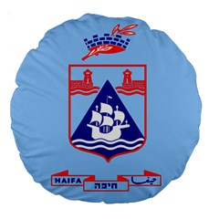 Flag Of Haifa Large 18  Premium Round Cushions by abbeyz71