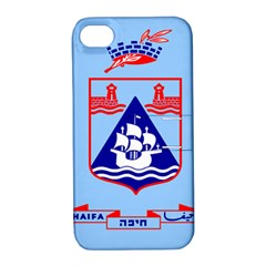 Flag Of Haifa Apple Iphone 4/4s Hardshell Case With Stand by abbeyz71