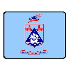 Flag Of Haifa Double Sided Fleece Blanket (small)  by abbeyz71