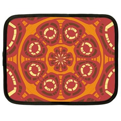 Dark Red Abstract Netbook Case (xl)  by linceazul