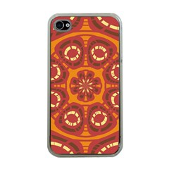 Dark Red Abstract Apple Iphone 4 Case (clear) by linceazul