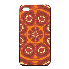 Dark Red Abstract Apple Iphone 4/4s Seamless Case (black) by linceazul