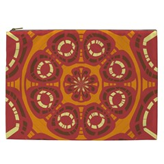 Dark Red Abstract Cosmetic Bag (xxl)  by linceazul