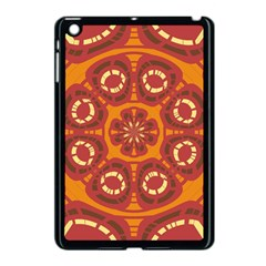 Dark Red Abstract Apple Ipad Mini Case (black) by linceazul
