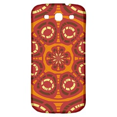 Dark Red Abstract Samsung Galaxy S3 S Iii Classic Hardshell Back Case by linceazul