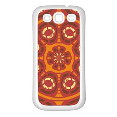 Dark Red Abstract Samsung Galaxy S3 Back Case (white) by linceazul