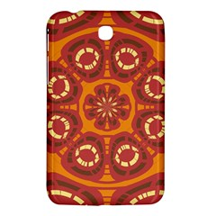 Dark Red Abstract Samsung Galaxy Tab 3 (7 ) P3200 Hardshell Case  by linceazul