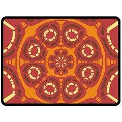 Dark Red Abstract Double Sided Fleece Blanket (large)  by linceazul