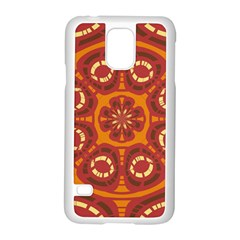 Dark Red Abstract Samsung Galaxy S5 Case (white) by linceazul