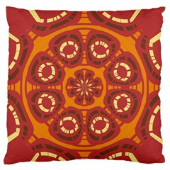 Dark Red Abstract Standard Flano Cushion Case (one Side) by linceazul